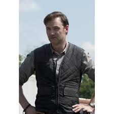 Walking Dead Season 3 Governor (David Morrissey) Quilted Vest ... & Walking Dead Season 3 Governor (David Morrissey) Quilted Vest Adamdwight.com