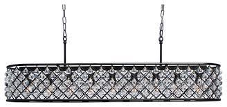 cassiel rectangular crystal drop chandelier black 40