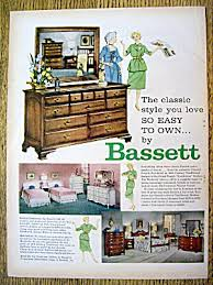 1959 Bassett Furniture with Women and Dresser Furniture at Ads By Dee