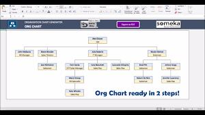 Organizational Chart Maker Automatic Organizational Chart Generator Basic Version