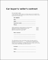 sales contracts sample 10 party car sale contract template besttemplatess