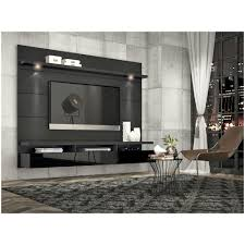 manhattan comfort cabrini wall mounted floating tv back panel 2 2 in black gloss