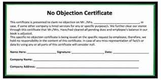 Request Letter To Issue No Objection Certificate For License