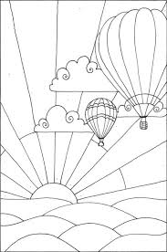 Small Picture Hot air balloon coloring pages flying at sunset ColoringStar