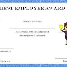 Employee Of The Month Certificate Templates Employee Of The Month Free Certificate Templates For Staff You