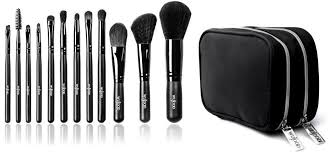 wujood 12 piece professional makeup brushes set hypoallergenic synthetic soft brushes
