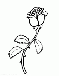 Small Picture Rose Coloring Pages Printable Coloring Page For Kids Kids Coloring