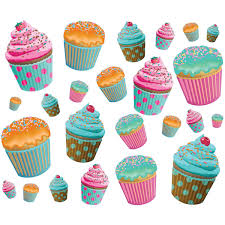 cupcake wall decals medium sheet on cupcake wall art stickers with cupcakes assorted wall decal sheet of 26 pinterest wall decals
