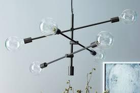 industrial chandelier lighting. 4. Mobile Pendant - Antique Bronze From West Elm Industrial Chandelier Lighting