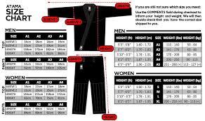 Atama Size Chart Atama Gi Size Chart Atama Size Chart Bjj Informer