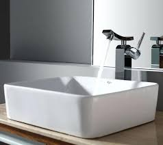 kraus rectangular ceramic vessel sink in white with unicus faucet chromekraus replacement parts broken glass and