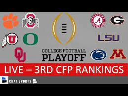 3rd college football playoff rankings