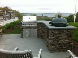 Big Green Egg Outdoor Kitchen Big Green Egg Built Into Outdoor Kitchen Outofhome