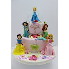 Cute Anime Princess 3d Cake Sugar Crafted Figurines At Beauty And