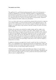 Free Sample Cover Letter Cover Letter Example