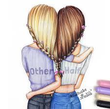 resultado de imagen para imagenes para dibujar a lapiz de mejores amigos