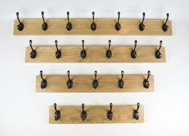 coat racks solid handmade oak and pine with 2 3 4 5 6 7 8 9 10 hooks
