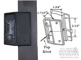 non handed latch pull for sliding screen door black