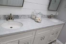 Custom Bathroom Countertops Awesome How To Order A Lowe's Custom Vanity Top On A Budget Centsible Chateau