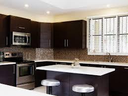 Backsplash For Dark Cabinets Modern Kitchen Designs With Dark Cabinets Kitchen Simple With And