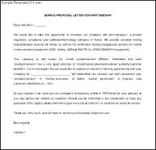 Partnership Proposal Samples Business Proposal Letter Samples Pertaining To Sample