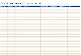 Paper Contact List Template   Print Paper Templates
