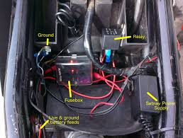 fitting relay fusebox for accessories beginner biker adventures