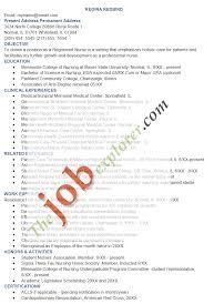Registered Nurse Resume Templates Nursing Template Free Sample