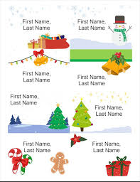 avery nametag holiday name badges 8 per page christmas spirit design