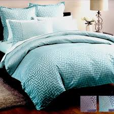 jacquard linen house harrington aqua teal king quilt doona duvet cover set