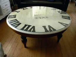 clock coffee table round brown and white round vintage glass top clock coffee table designs tables