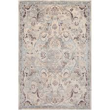 251 first grace gray and blue rectangular 3 ft 11 in x 5 ft 7 in rug