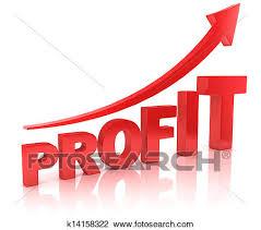 Profit Graph With Arrow Clip Art