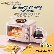 Lò nướng Mini Đa năng 3 trong 1 (Lò nướng/Chảo rán trứng/Ấm siêu tốc) Chính  Hãng Bear DSL -C02B1