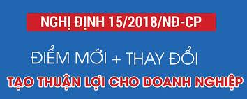 Điểm mới trong nghị định 15/2018/NĐ-CP