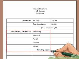 Easy Profit And Loss Statement Beauteous How To Write An Income Statement With Pictures WikiHow