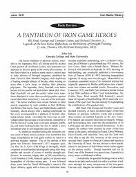 june 2016 iron game history a pantheon of iron game heroes bill pearl george and