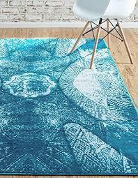 unique loom sofia collection turquoise 5 x 8 area rug 5 x 8