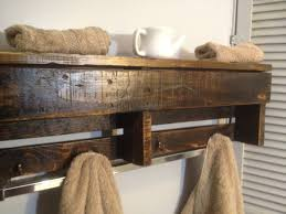 custom made handmade reclaimed pallet wood shelf entry organizer coat rack bathroom shelf
