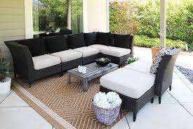 Patio lounge new rug pillows and forever succulent