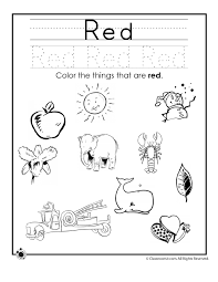 Learning Colors Worksheets for Preschoolers Color Red Worksheet ...