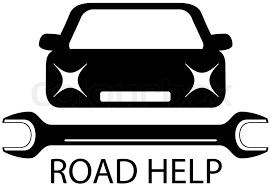 Road Help Sign With Black Car And Stock Vector Colourbox
