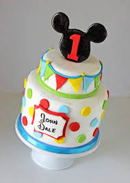 Mickey Mouse Cakes 1st Birthday Cake Images Smash Outfit Decorations