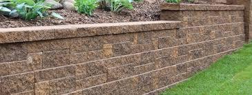 garden and retaining walls