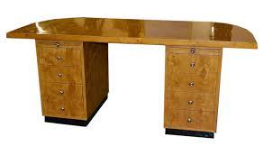 lovely art deco birdseye maple desk writing table