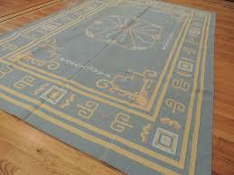 kilim reversible cotton area rug 6x9 geometric design blue yellow and gray area rug 5x7