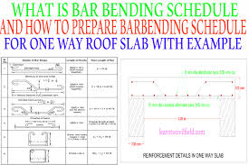 Concrete Slab Design Example What Is Bar Bending Schedule Bbs And How To Prepare Bar