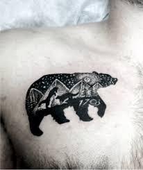 белый медведь тату фото