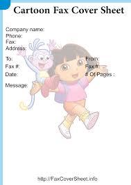 Free Printable Cartoon Fax Cover Sheet Templates Free Fax