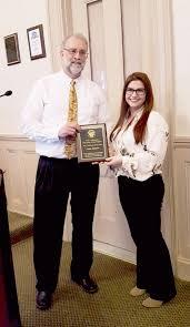 1. Biddeford Maine Mayor Alan Casavant presented award to Reba ...